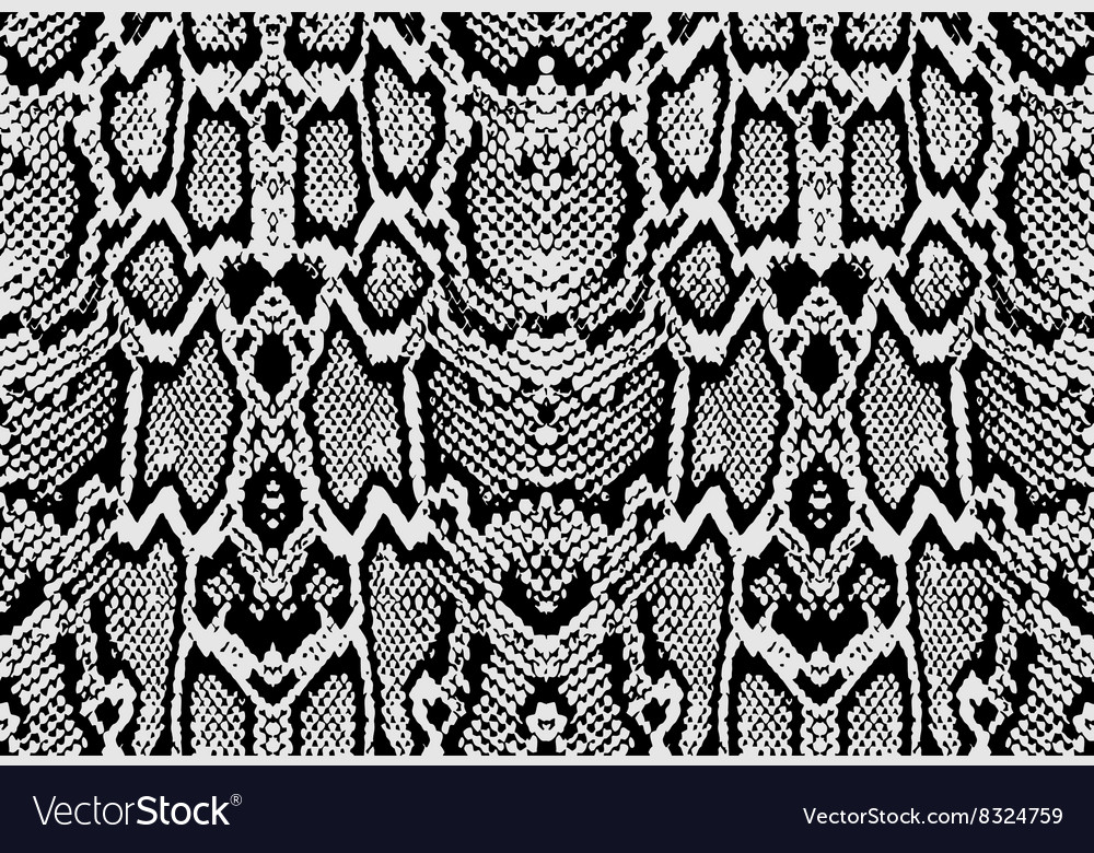 Snake python skin texture Seamless pattern black