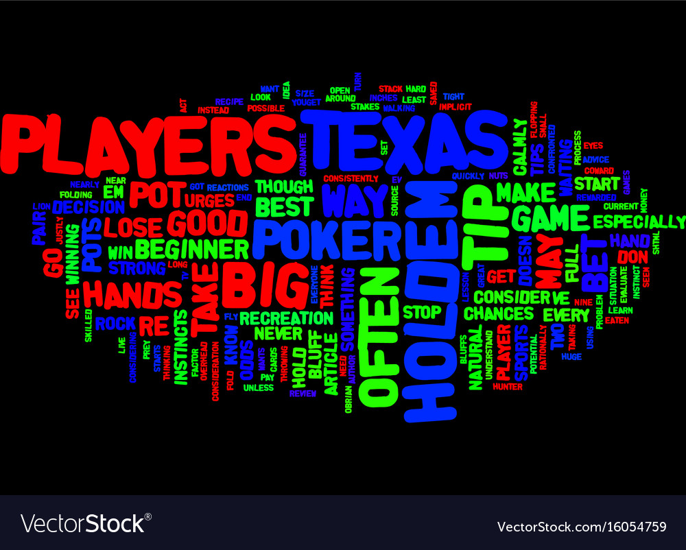 Texas hold em tips text background word cloud