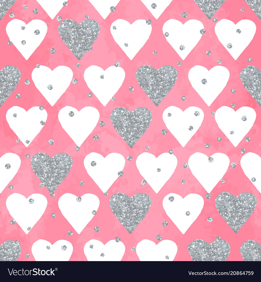 Wedding aquarelle pink seamless pattern with