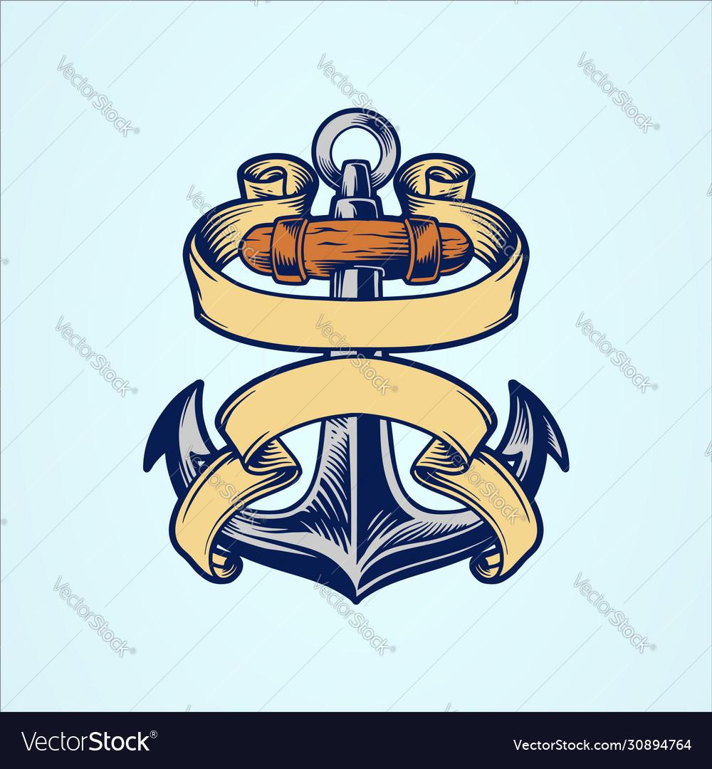 Anchor logo icon nautical maritime sea ocean