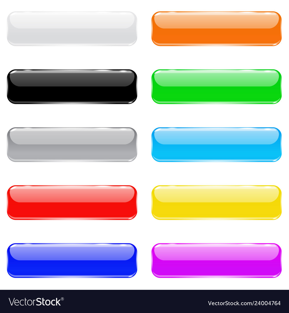 Colored 3d glass buttons