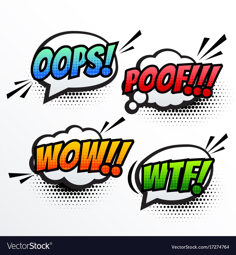 Comic text sound effect pop art