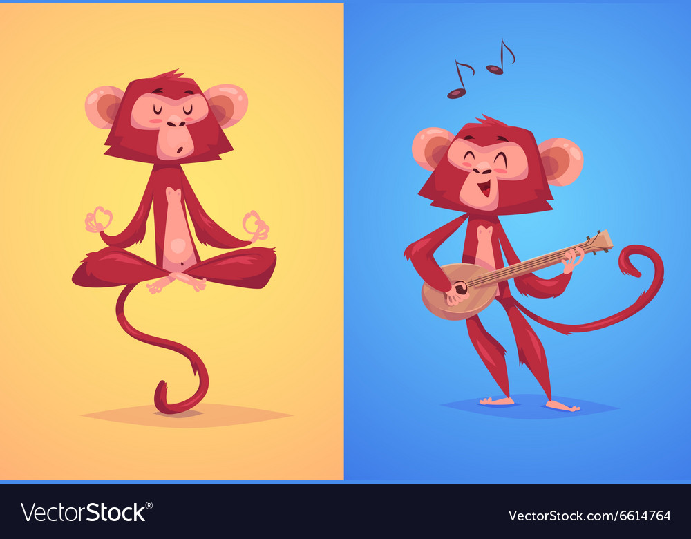 Comical monkey series