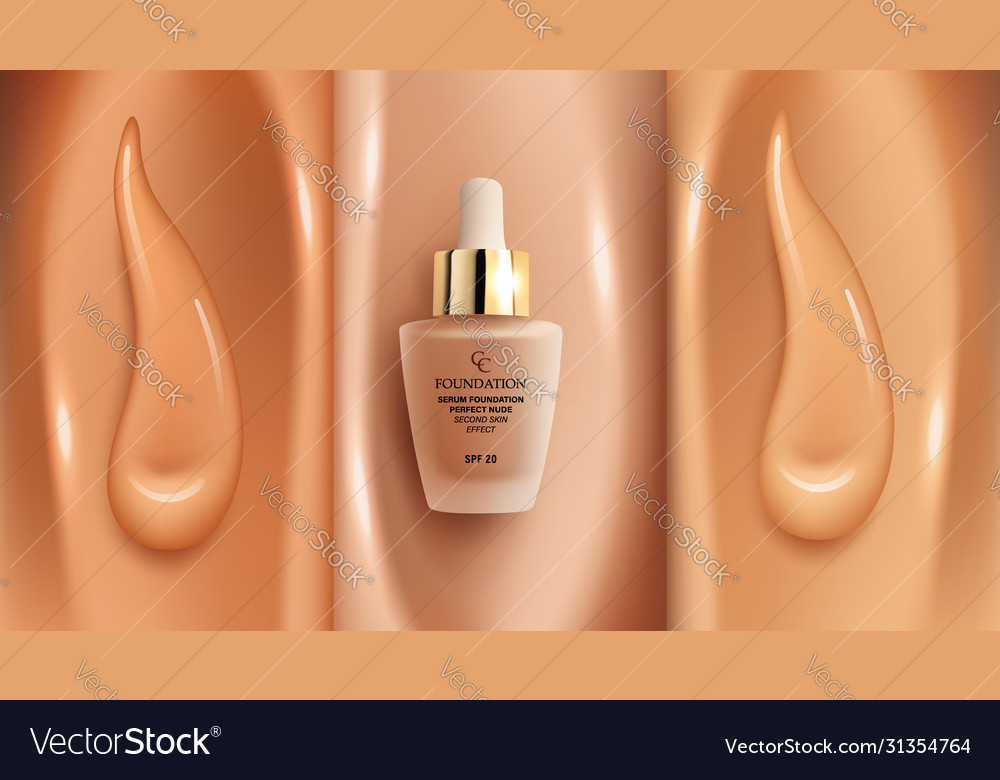 Foundation Makeup Background With