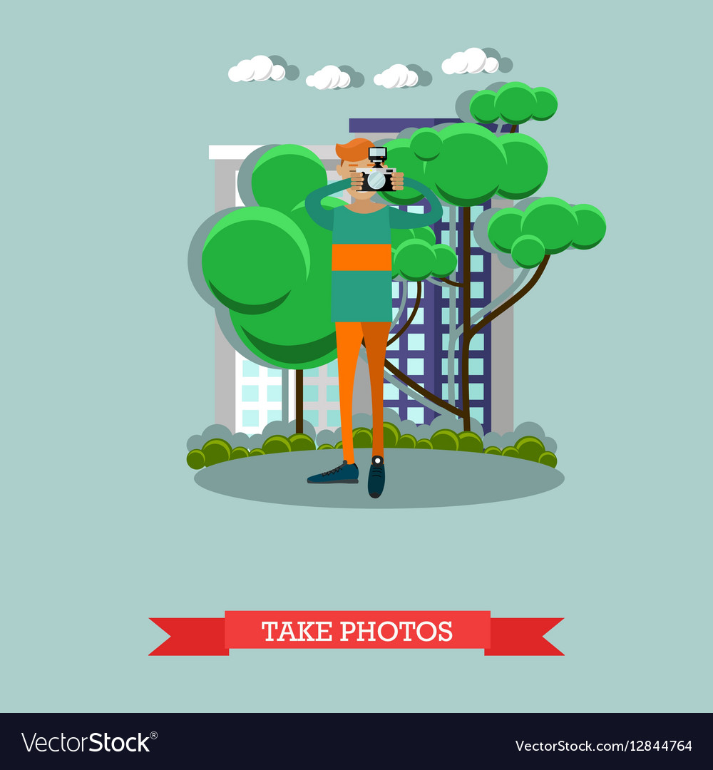 Photographer in flat style