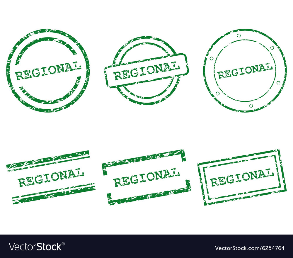 Regional stamps vector image
