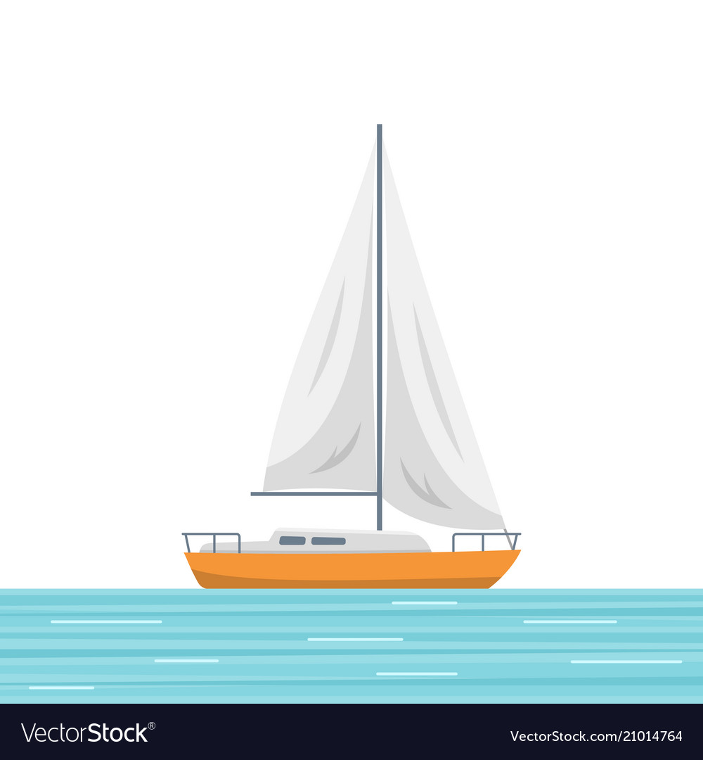 Sailboat isolated