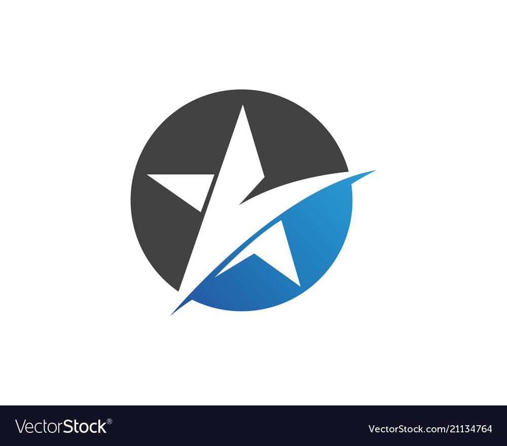 Star falcon logo template icons app