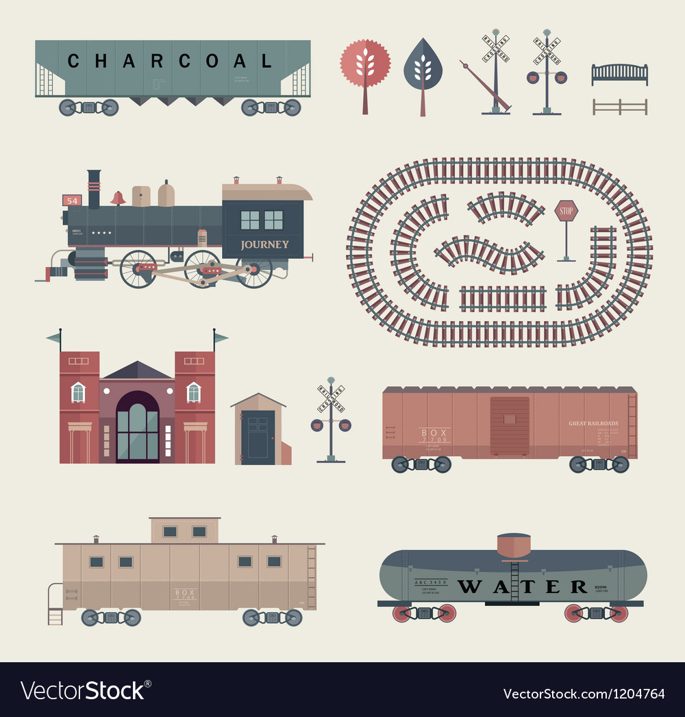 Train set vector image