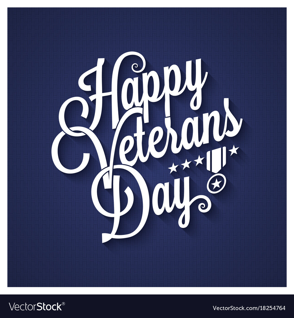 Veterans day vintage lettering background