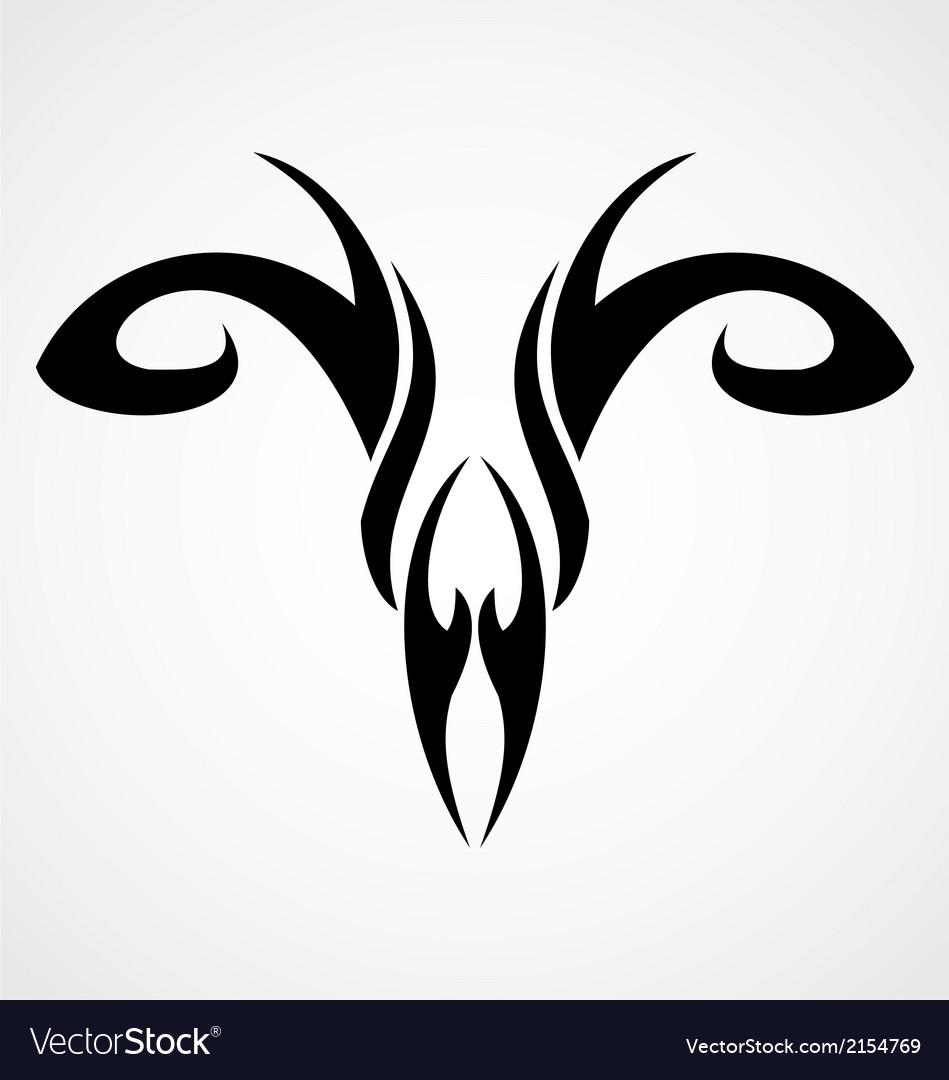 Aries Symbol Royalty Free Vector Image Vectorstock