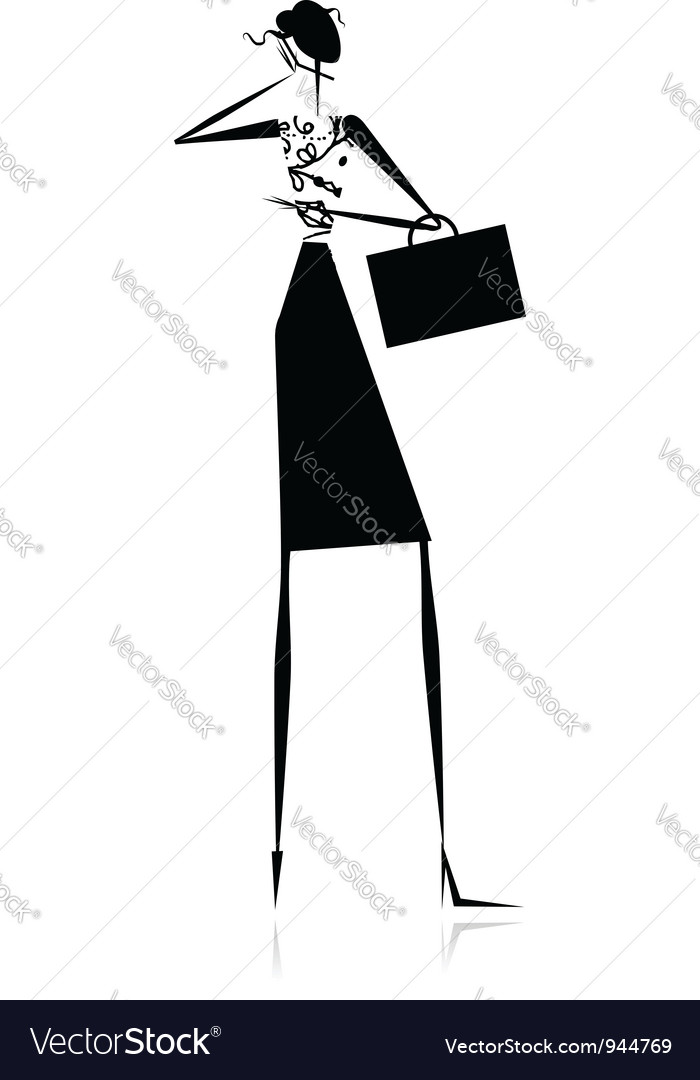 Business lady silhouette for your design