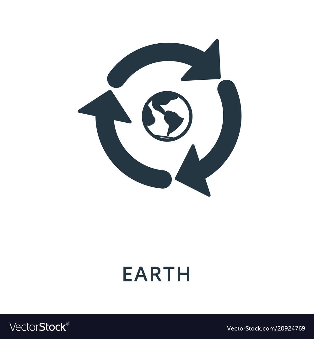 Earth icon flat style icon design ui vector image