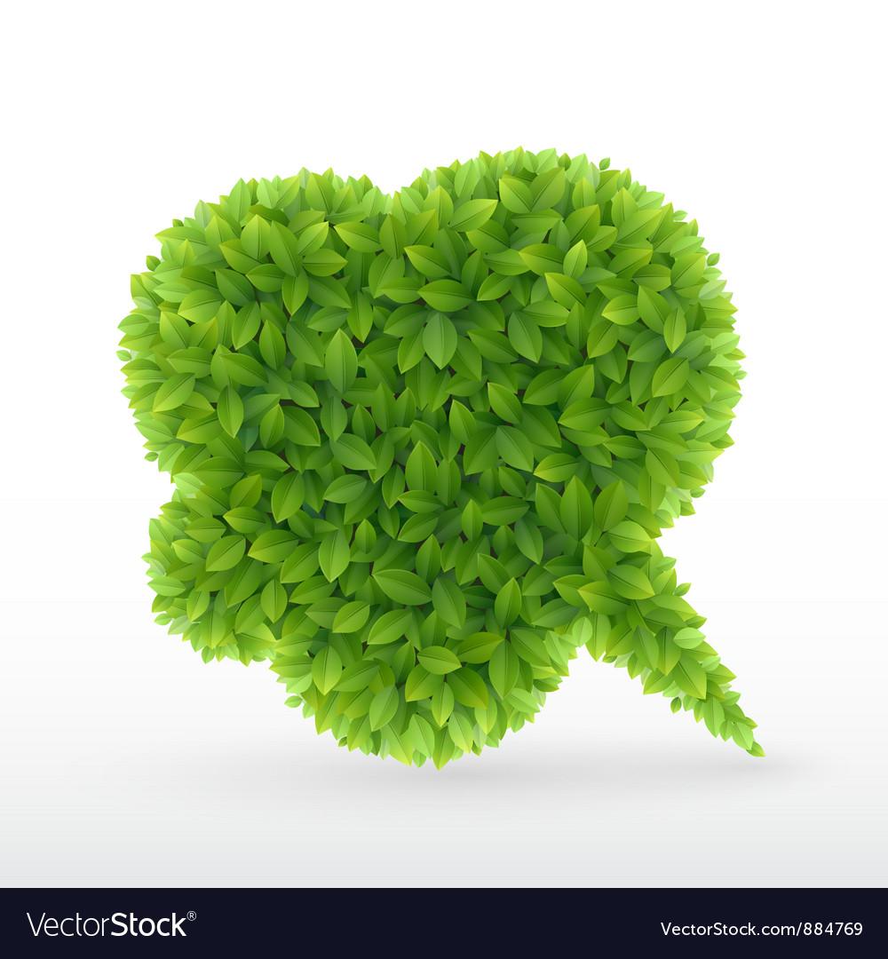 Foliage bubble vector image