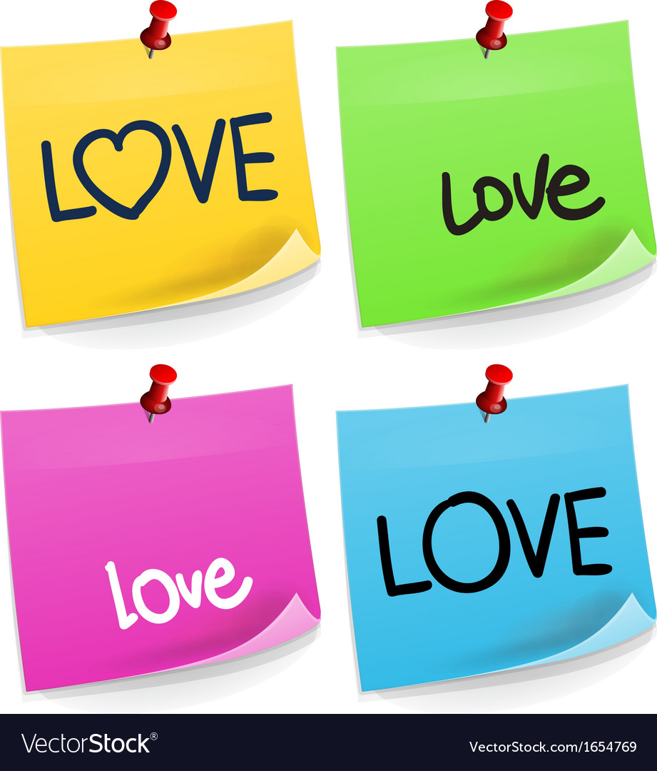 Love Sticky Note vector image