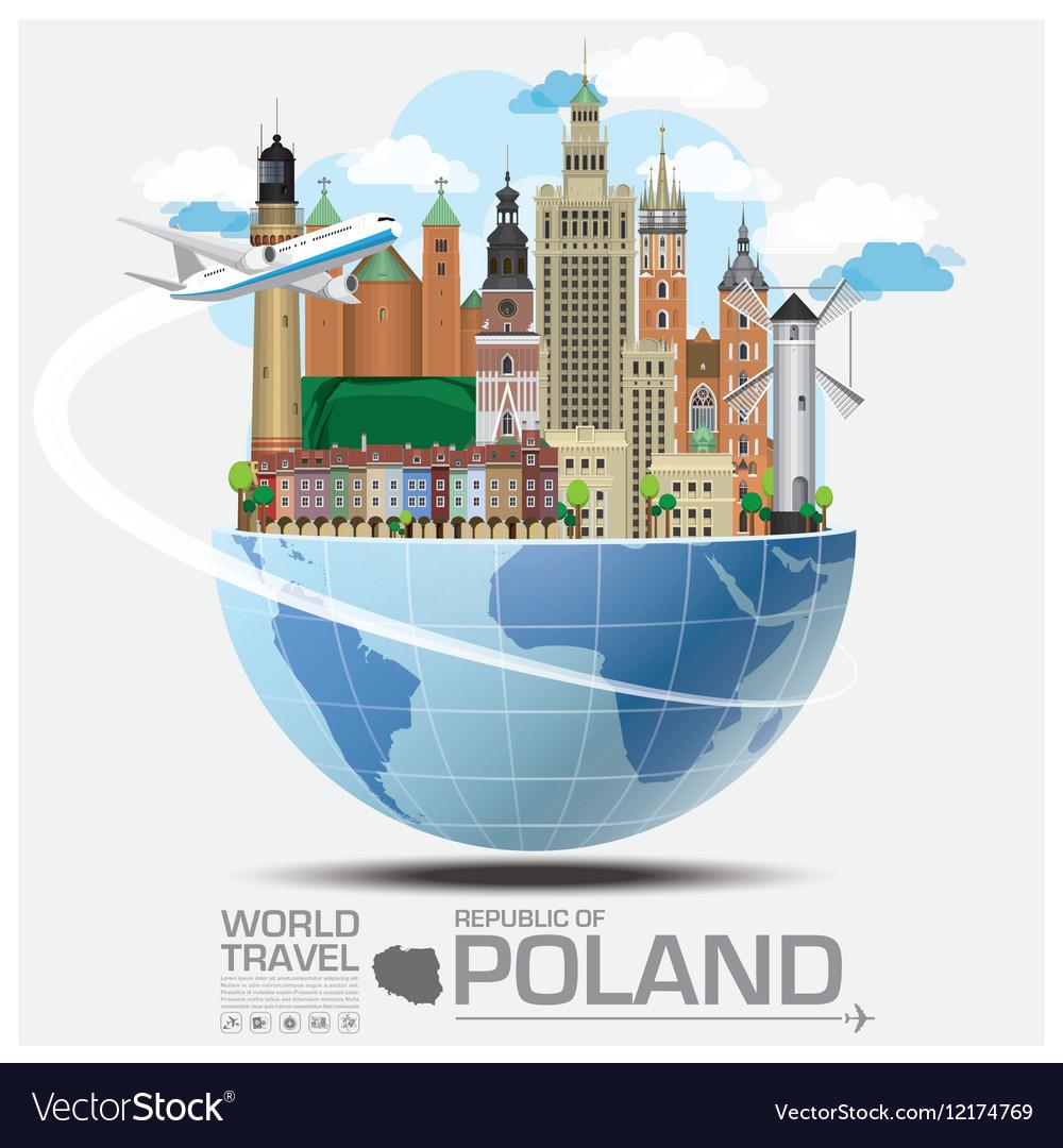 Republic Of Poland Landmark Travel And Journey vector image