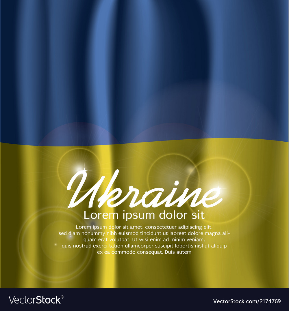 Ukraine Flag Curtain vector image