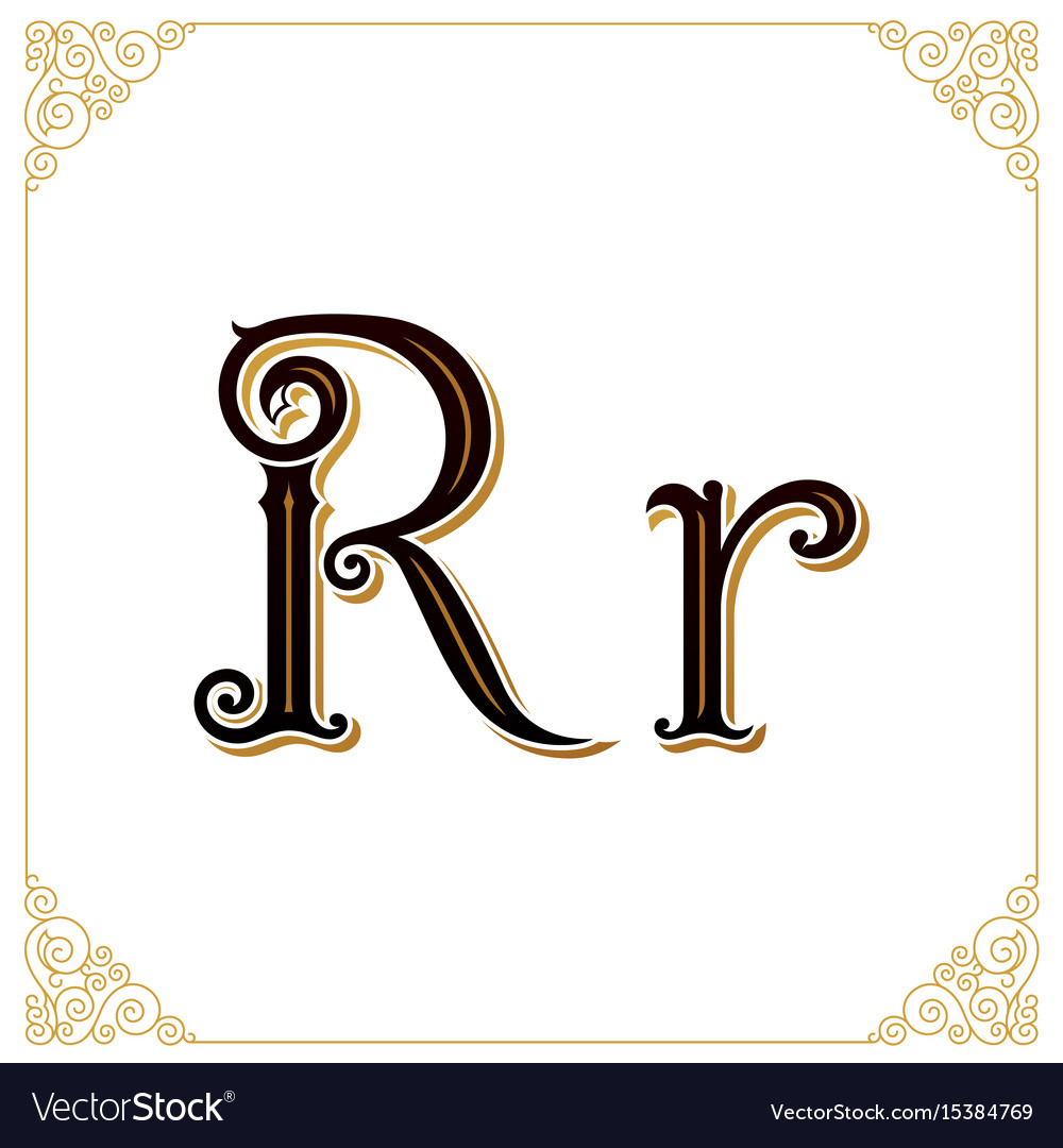 Vintage font letter and monogram in the