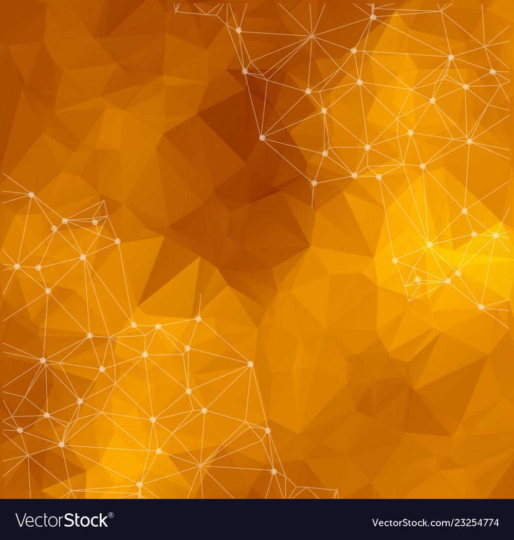 Abstract polygonal dark yellow ...