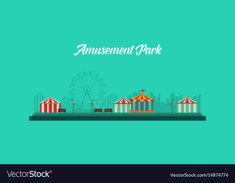 Background amusement park and carnival vector image