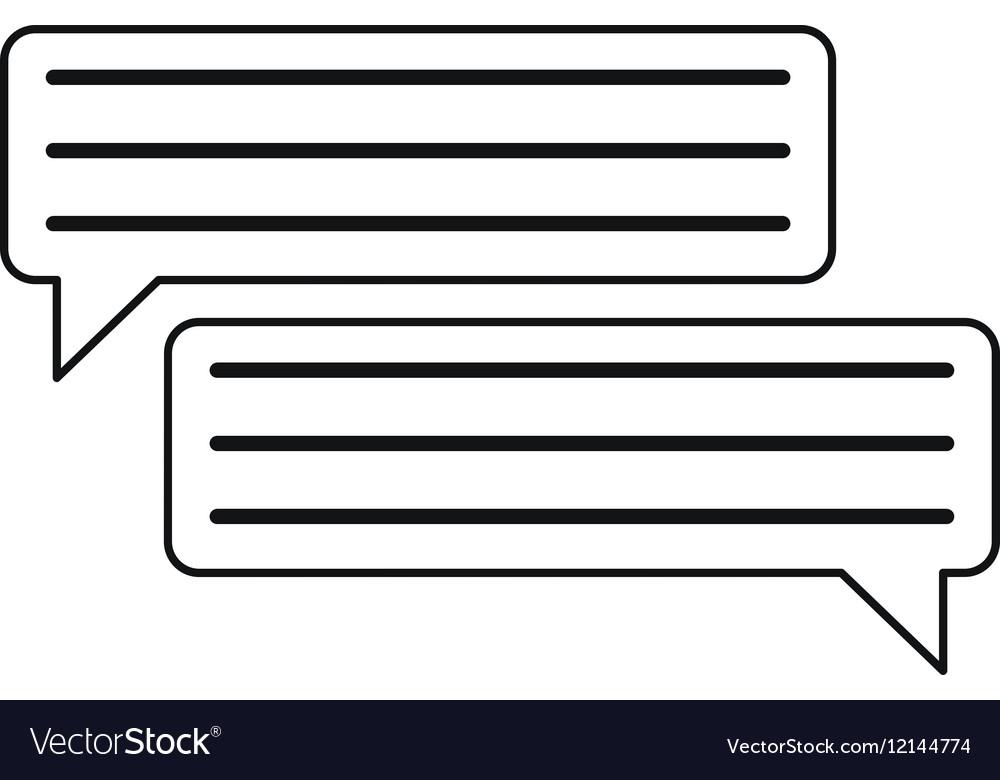 Bubbles speech dialog speak text outline
