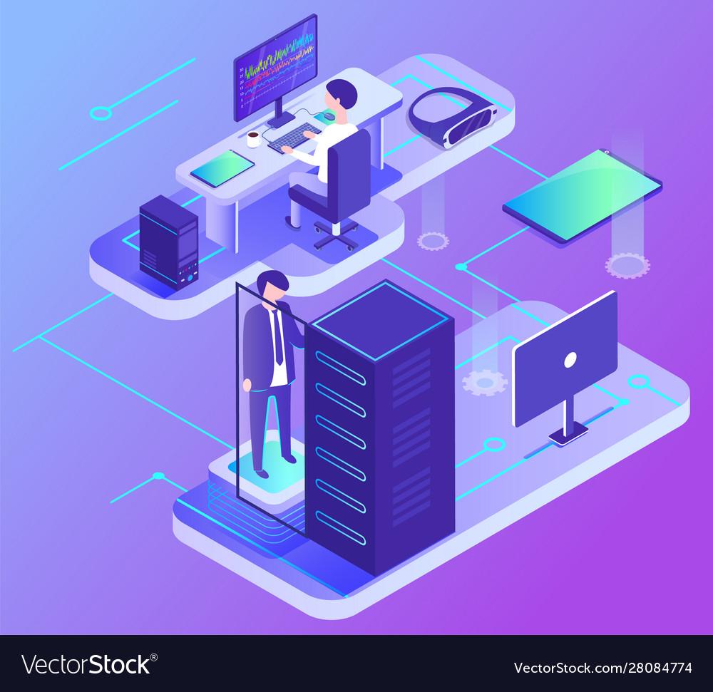 Computer communication data center pc