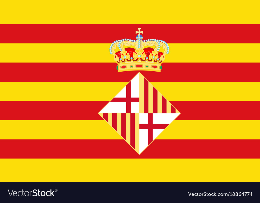 flag of barcelona in spain royalty free vector image vectorstock