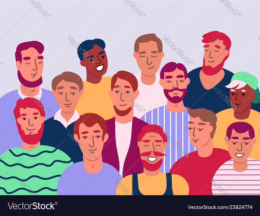 Group of men flat