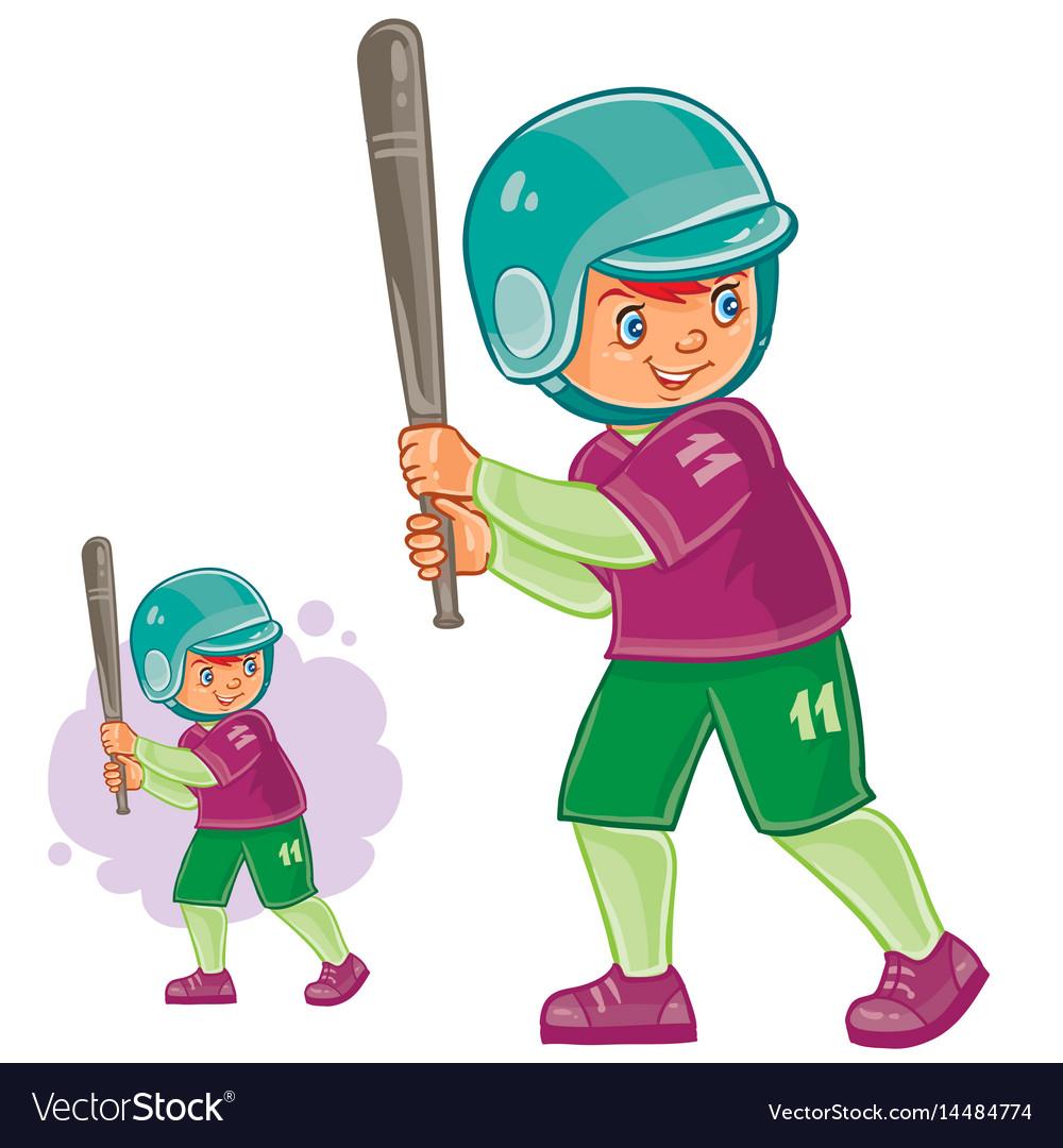 Little child playing baseball