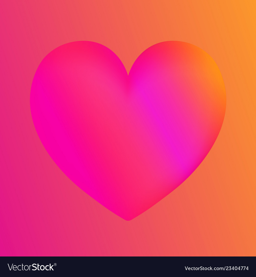 Pink heart colorful neon figuresvalentines day