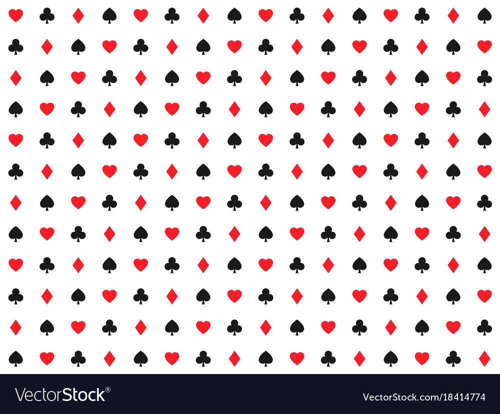 Playing card signs seamless pattern casino