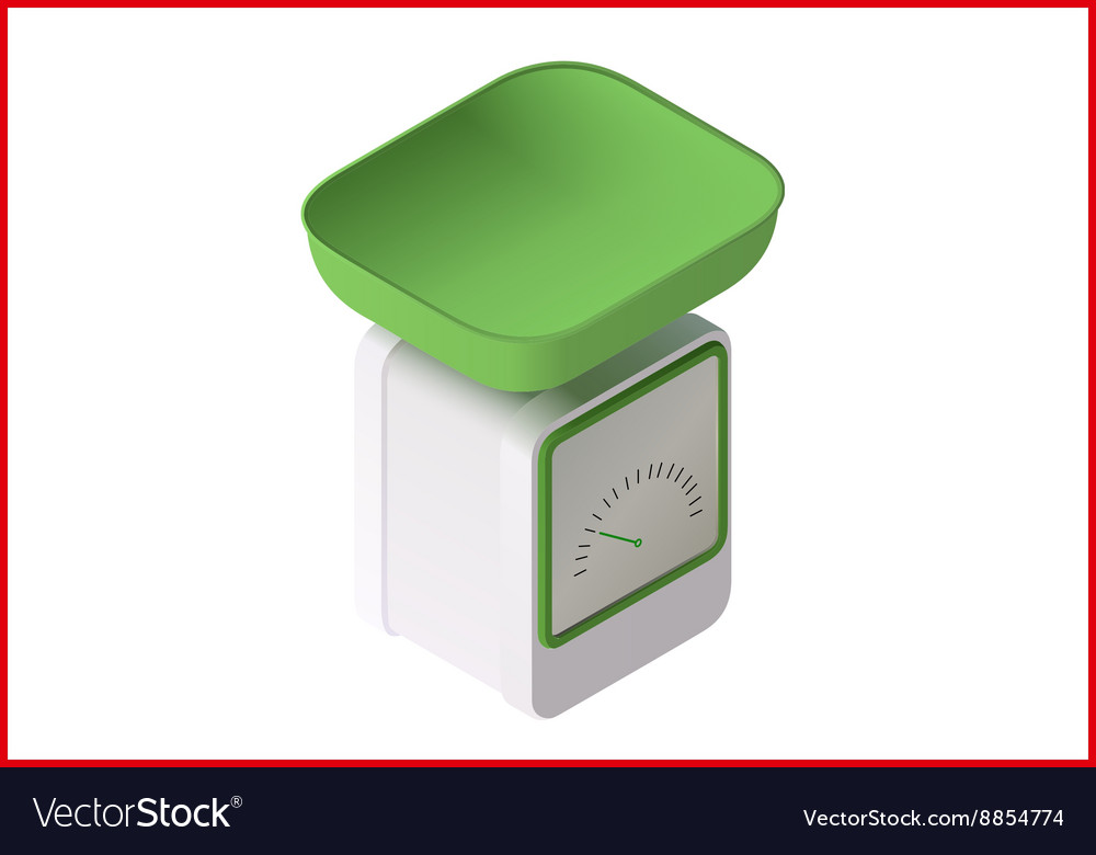Weight scale 3d vector image