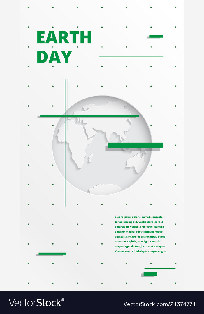 World earth day concep 22 april