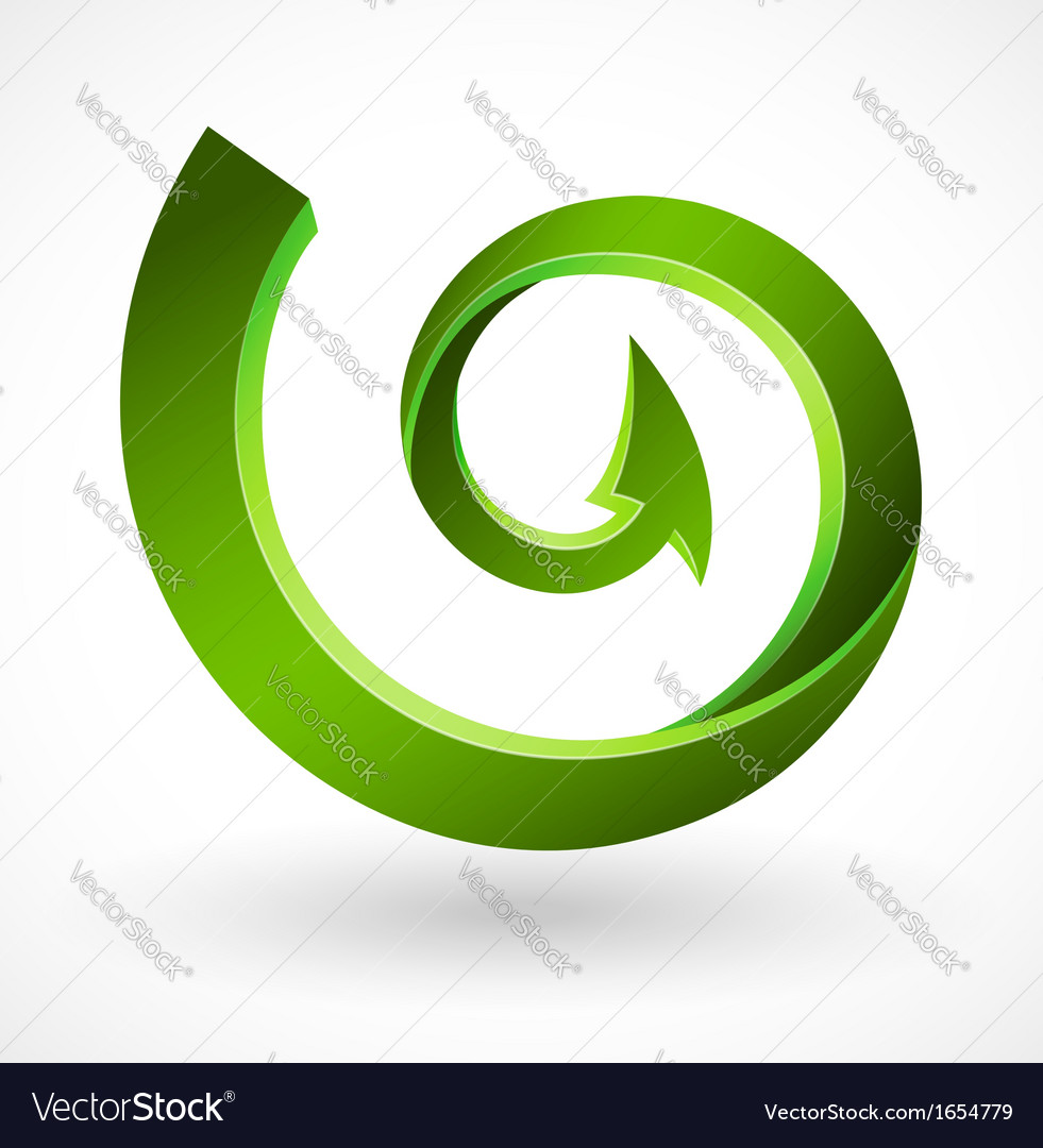 Arrow circle vector image