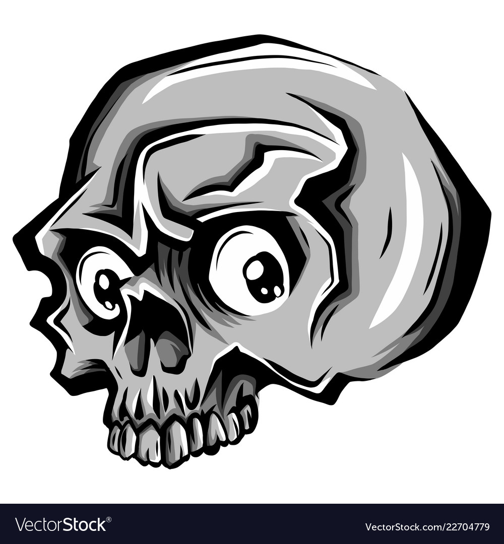 Cartoon skull skull tattoo skull