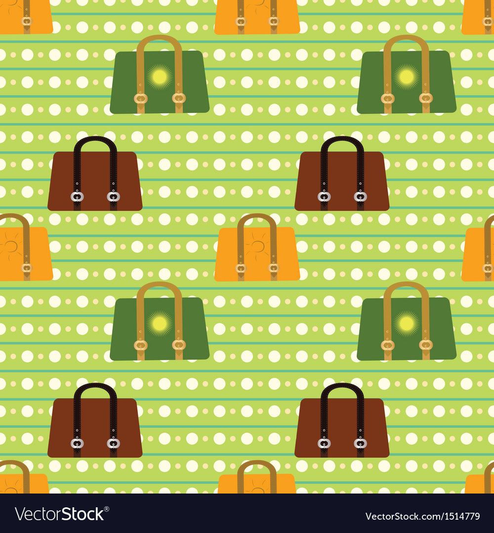 Colorful seamless pattern Various bags on