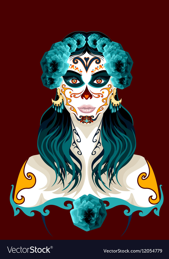 Day of the dead woman portrait