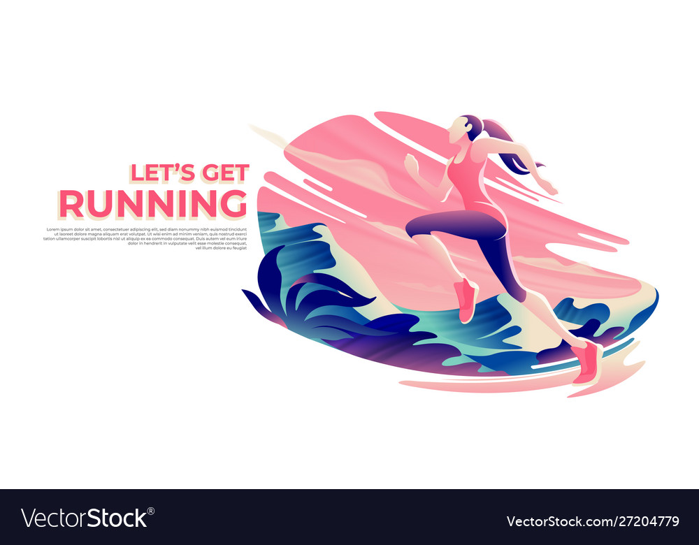 Running theme art in