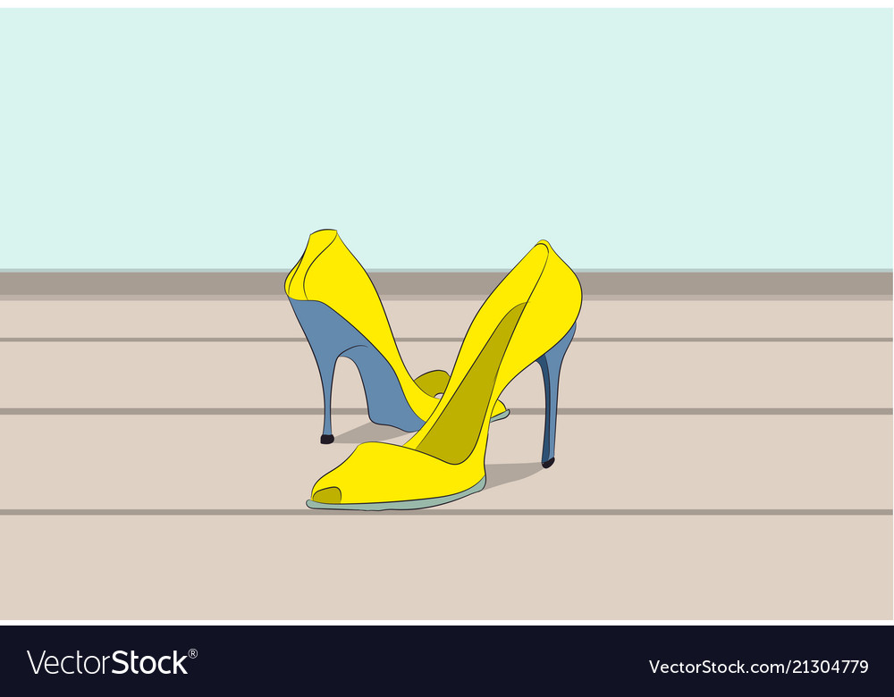 Shoes standing in a room