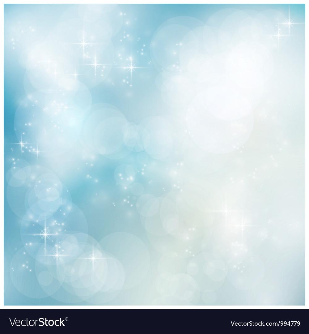 Silver blue winter Christmas bokeh