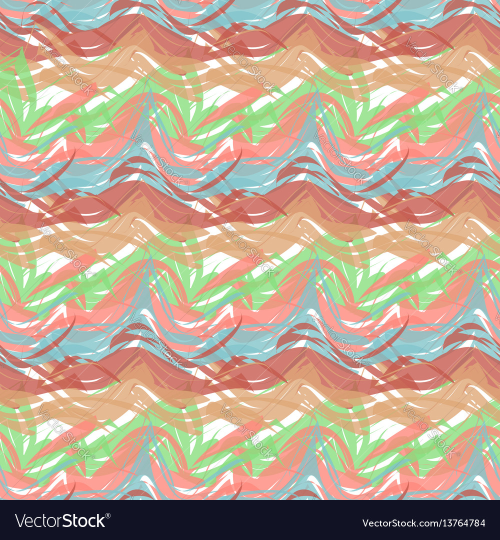 Abstract seamless pattern of paint strokes