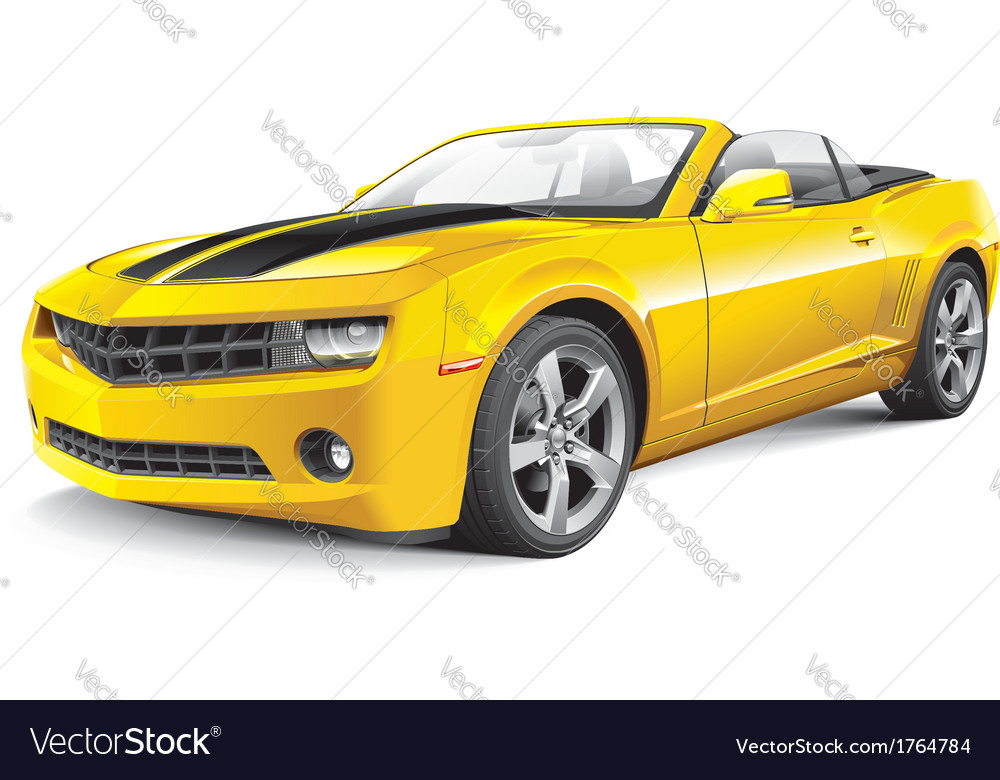 American muscle car convertible
