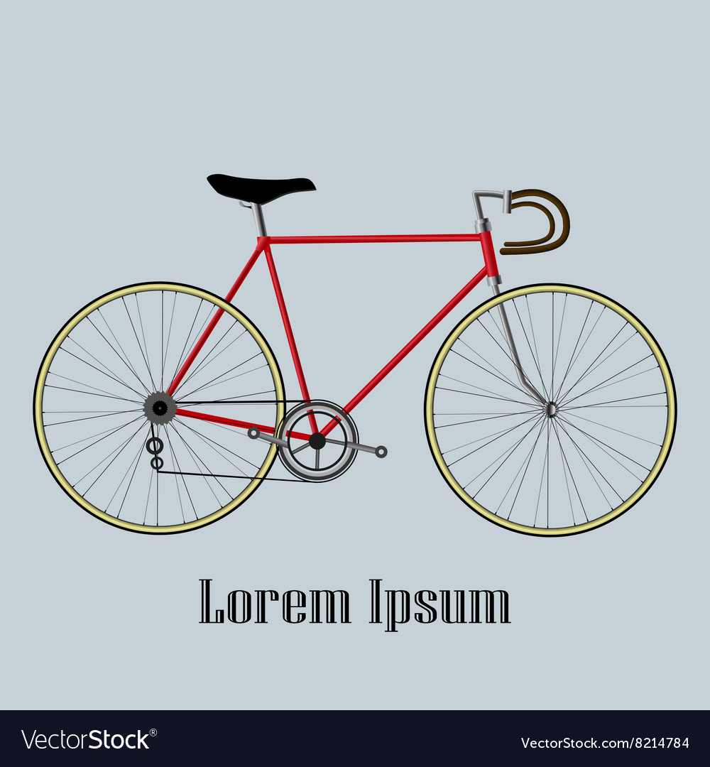 Bicycle isolated on blue background