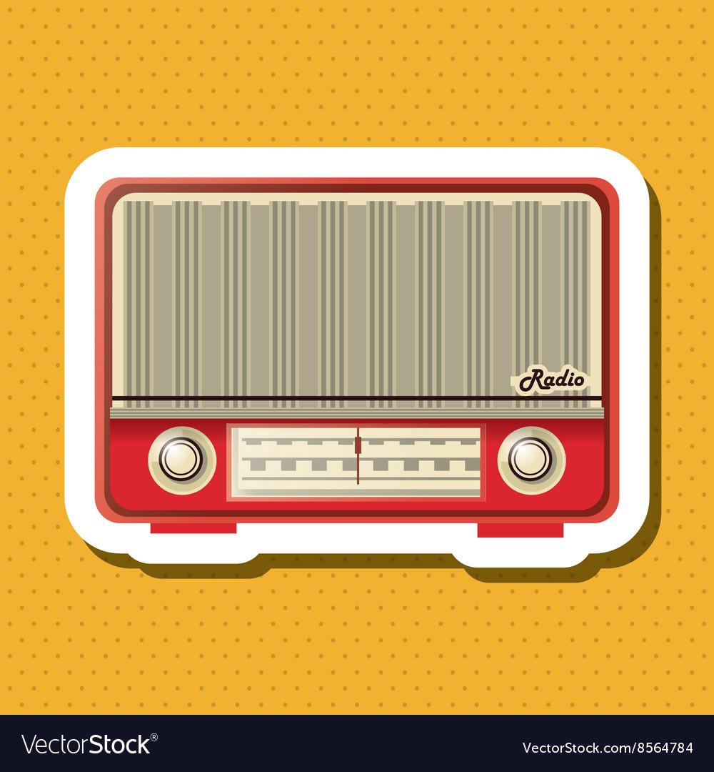 Colorful retro radio design Royalty Free Vector Image
