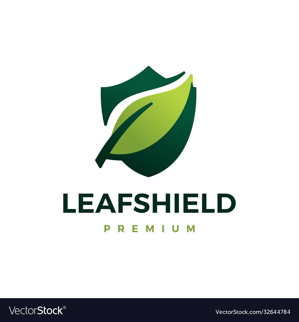 Leaf shield logo icon