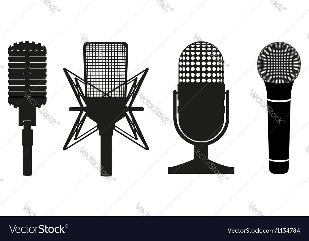 Microphone black silhouette