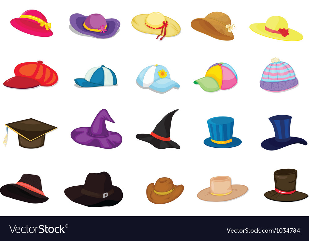 Mixed hats vector image