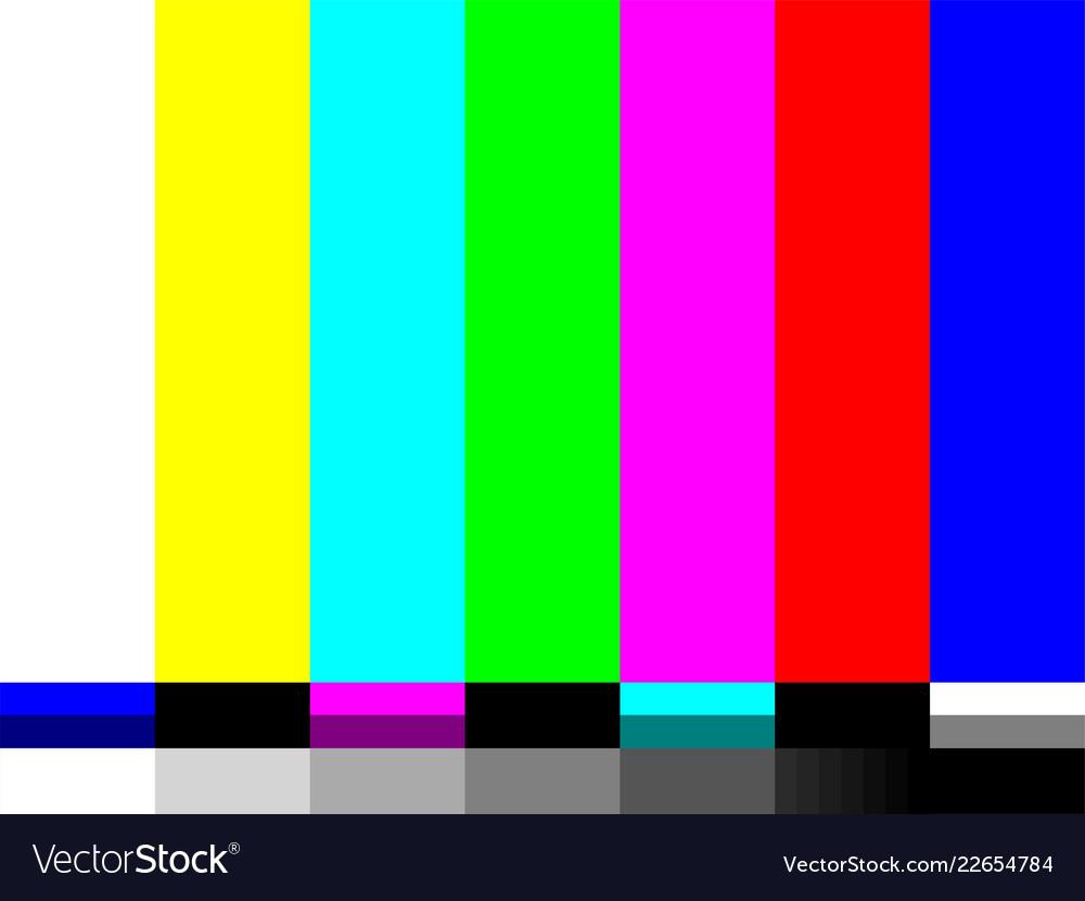 No Signal Tv Test Card Color Bars Royalty Free Vector Image