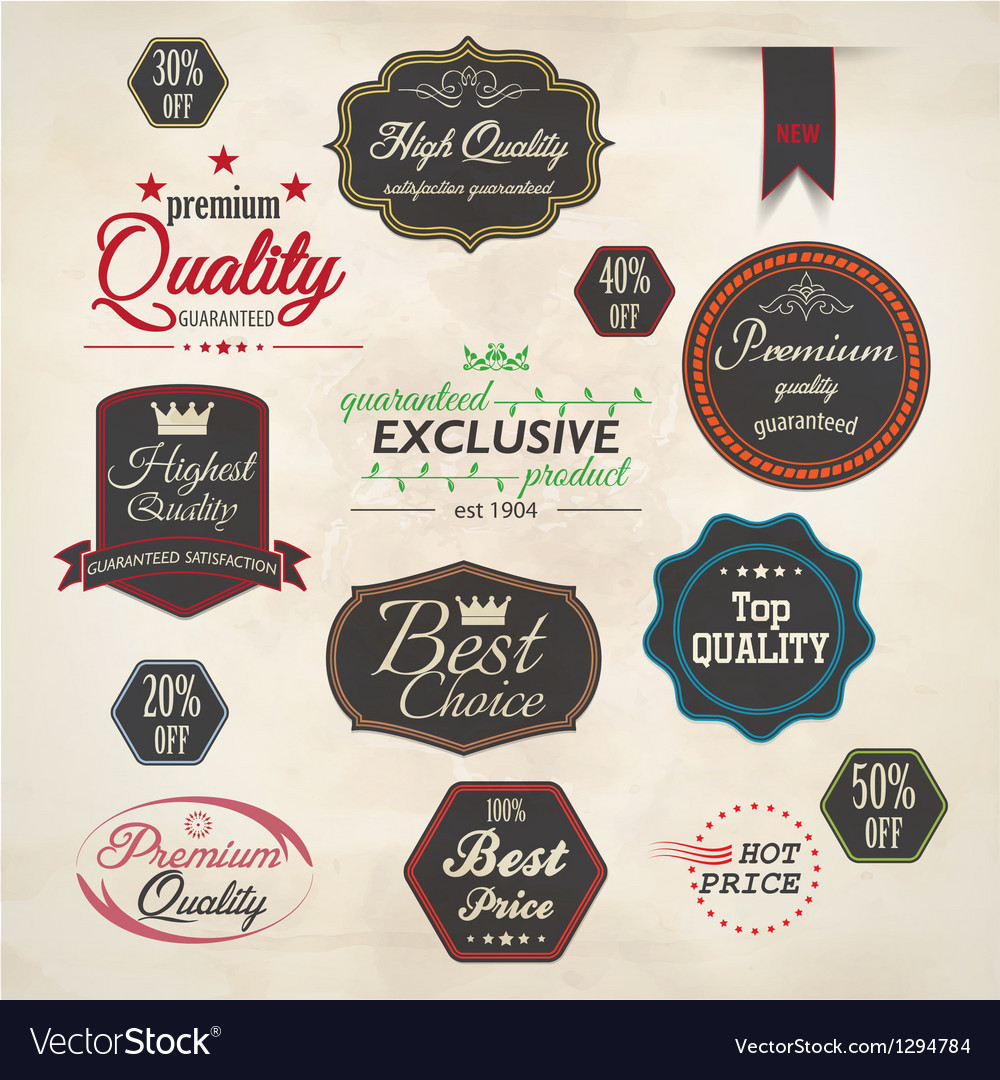 Set of badge and labels 5 vector image