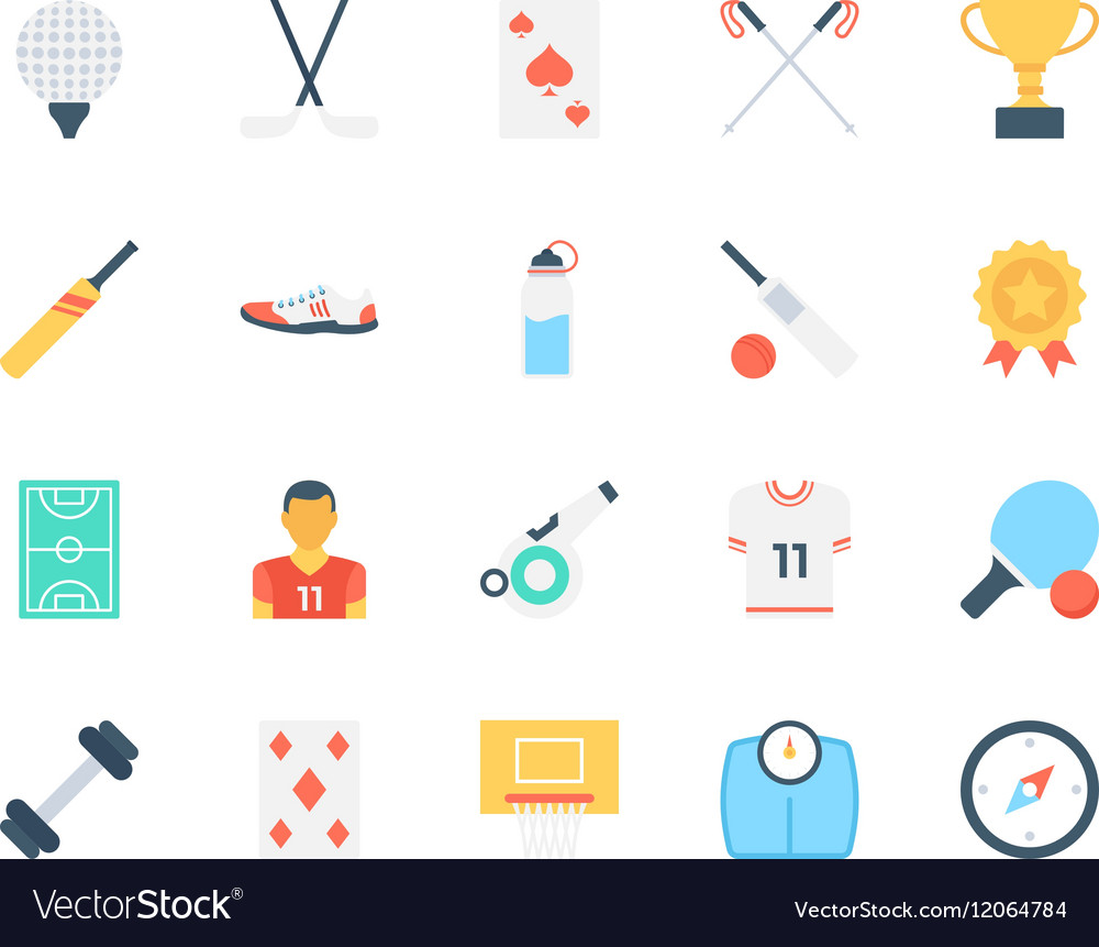 Sports Colored Icons 6 vector image